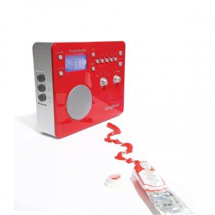 Радиоприемник Tivoli Audio Songbook red/silver (SBRS)