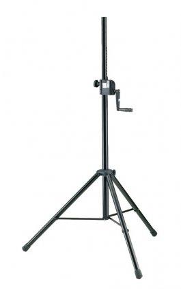 K&M K&M 21302-009-55 стойка-элеватор для акустических систем, выс.1385-2180 мм , диам. 35 мм, болт М10, нагр. до 40 кг, сталь,чёрная