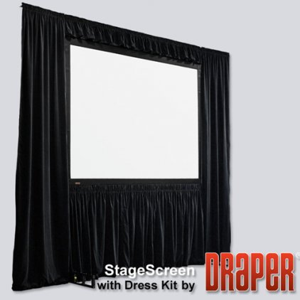 "Draper Stagescreen HDTV (16:9) 1400/551"" 686*1219 BM1300 (black backed, no legs)"