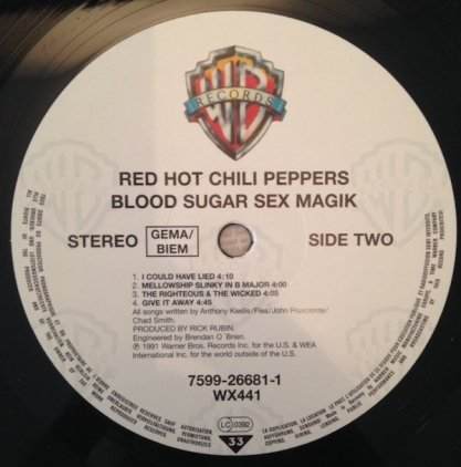 Виниловая пластинка Red Hot Chili Peppers BLOOD SUGAR SEX MAGIK (140 Gram)