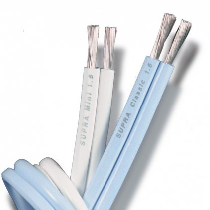 Акустический кабель Supra Mini 1.6 White м/кат (катушка 300м)