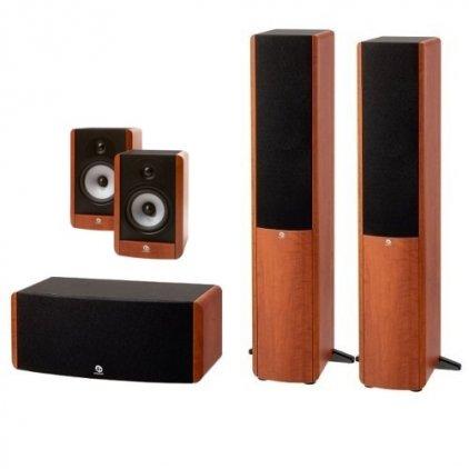 Boston Acoustics A360 + A25 + A225C grain wood