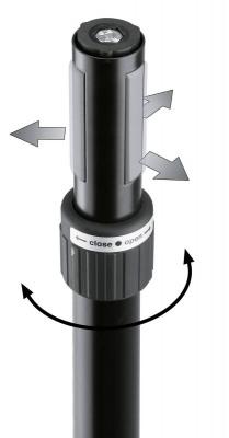 Стойка K&M K&M 21467-000-55 Ring Lock спикерная стойка на треноге, высота от 1,370 to 2,170 мм, диам. трубы от 35 до 37 мм, алюм., чёрный