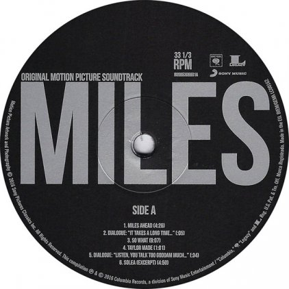 Miles Davis MILES AHEAD (ORIGINAL MOTION PICTURE SOUNDTRACK) (