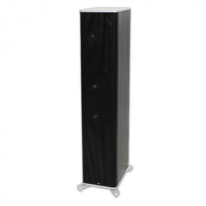 T+A KS 300 black cabinet with silver aluminium covers