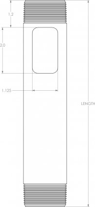 """Chief CMS003 white Fixed Extension Column 3"""""""