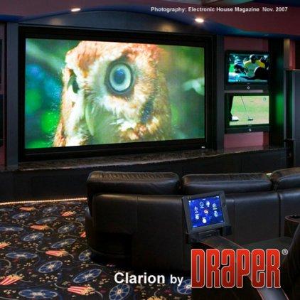 """Экран Draper Clarion HDTV (9:16) 409/161"""" 203*356 HDG (XH600V) Vel-Tex"""