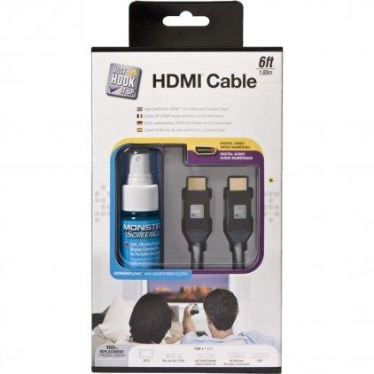 Monster JHIU CLN HDMI-6 EU, HDMI кабель + чист. ср-во (132628-00)