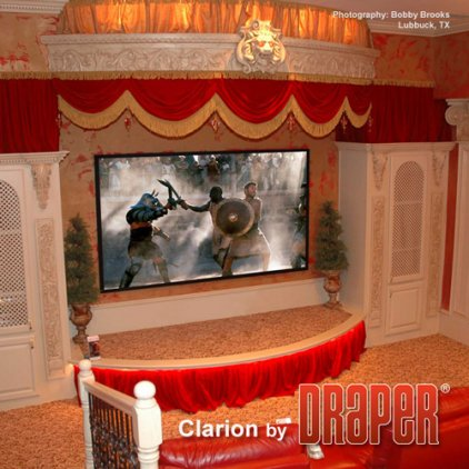 "Draper Clarion NTSC (3:4) 335/132"" 201*267 XT1000V MW"