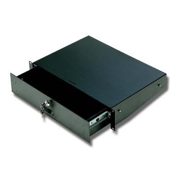 EuroMet EU/R-CA3  04582 Выдвижной рэковый ящик с замком, 3U, сталь черного цвета