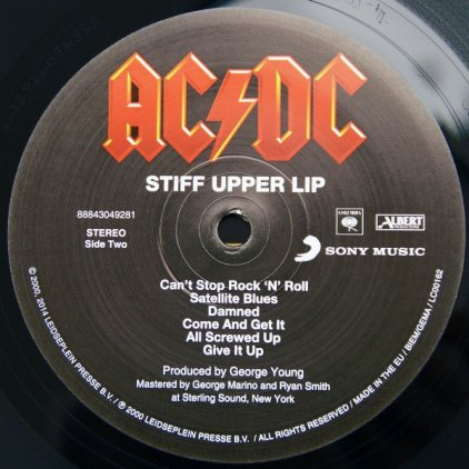Виниловая пластинка AC/DC STIFF UPPER LIP (Remastered/180 Gram)
