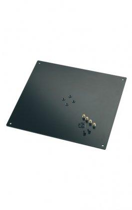 K&M K&M 26792-042-56 площадка-стол для студийных мониторов к стойке 26795, р-р 5х420х380, 4 шипа и 4 ножки в комплекте, сталь,чёрная
