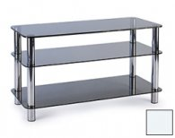 Подставка под телевизор MD 502 (серебро/прозрочное стекло)