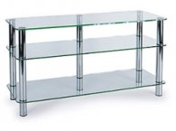 Подставка MD 505 Plazma (серебро/прозрачное стекло)