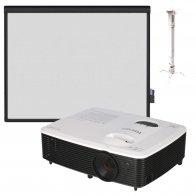 Интерактивный комплект RICOH PJ S2440 + Classic Solution Dual Touch V83 + Крепление для проектора CS-PRS-2 430-650, 120мм