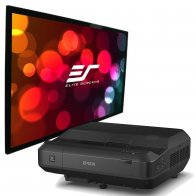 Комплект проектор Epson EH-LS100 + экран Elite Screens PVR100WH1