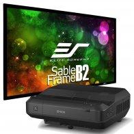 Комплект проектор Epson EH-LS100 + экран Elite Screens SB110WH2