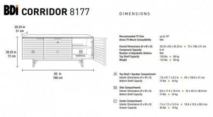 BDI Corridor 8177 chocolate walnut