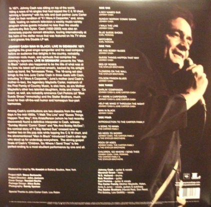Johnny Cash MAN IN BLACK: LIVE IN DENMARK 1971 (White And Red