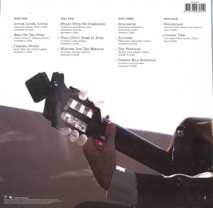 Виниловая пластинка Leonard Cohen SONGS FROM THE ROAD (180 Gram)