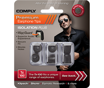 Comply Tx-100 Black Small (3 пары)