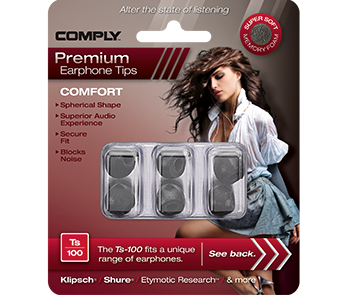 Comply Ts-100 Black Small (3 пары)