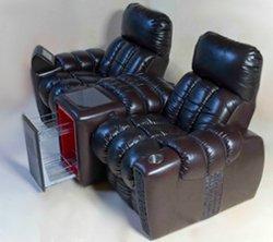 Кресло для домашнего кинотеатра Home Cinema Hall Luxury Консоль увеличенная с баром (столешница и электро-привод в комплекте) ALCANTARA/155