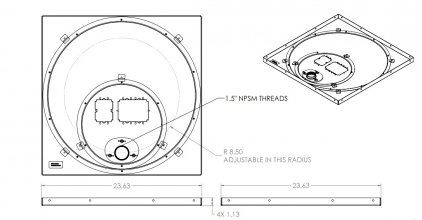 Крепление для проектора Chief CMS445 Speed-connect Ceiling Plate
