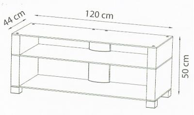 Подставка под ТВ и HI-FI Ultimate WD-3B Desktop teak