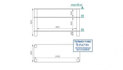 Подставка под телевизор MD 507 Plazma (хром/прозрачное стекло)