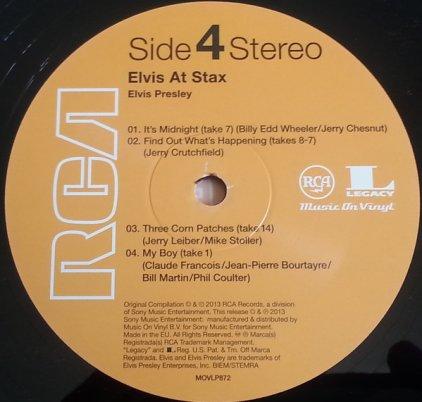 Виниловая пластинка Elvis Presley ELVIS AT STAX (180 Gram/Remastered)