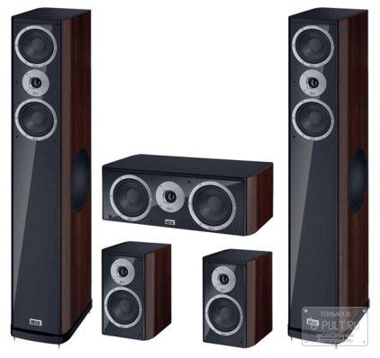 Комплект акустики Heco Music Style 500 Set 5.0 black/espresso (500+200+c2)