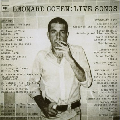 Leonard Cohen LIVE SONGS (180 Gram/Remastered)