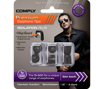 Comply Tx-500 Black Large (3 пары)