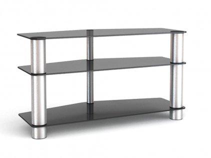 Подставка под телевизор MD 525 (алюминий/прозрачное стекло)