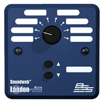 BSS BSS BLU6 настенная панель управления серии BLU. 8-позиционный селектор и кнопки громкости Up/Down
