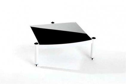 Atacama EQUINOX RS-2 Shelf Base Module Hi-Fi White/ARC Piano Black Glass