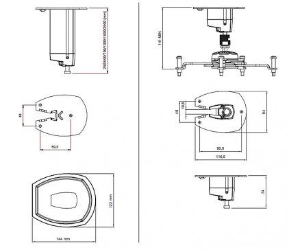 Крепление для проектора SMS Projector CL F500 A/S incl Unislide silver