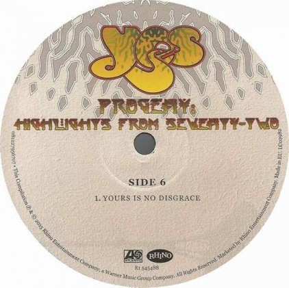 Yes PROGENY: HIGHLIGHTS FROM SEVENTY-TWO (180 Gram)