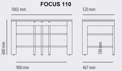 Кабель канал для Schroers Focus 110 (silver)