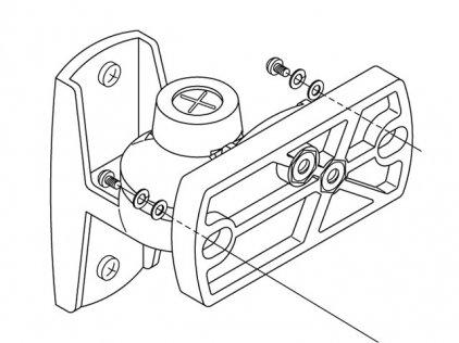 Крепление RCF MA 7-W Пара креплений шарнирных для MR 33/44, цвет белый.