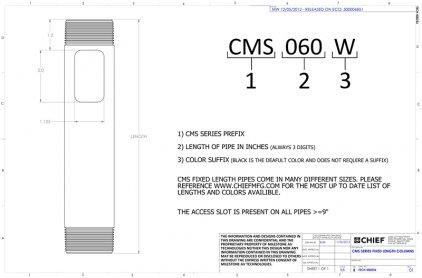 Крепление для проектора Chief CMS060w White