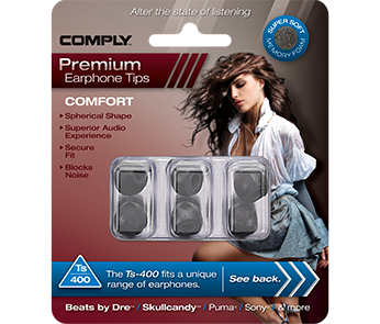 Comply Ts-400 Black Large (3 пары)
