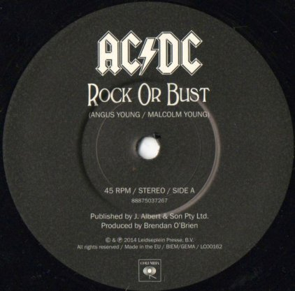 AC/DC ROCK OR BUST (2 tracks)