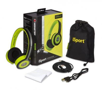 Наушники Monster iSport Freedom Wireless Bluetooth On-Ear Green (128939-00)