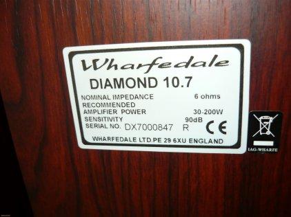 Напольная акустика Wharfedale Diamond 10.7 wenge