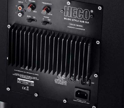 Сабвуфер Heco Music Style Sub 25 A black/espresso