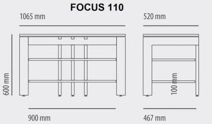 Schroers Кабель канал для Schroers Focus 110 (steel)