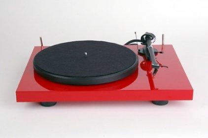 Проигрыватель винила Pro-Ject Debut Carbon Phono USB (DC) red (Ortofon OM10)
