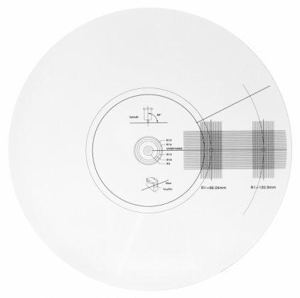 Аксессуар для винила Dynavox шаблон для юстировки тонарма (206800)
